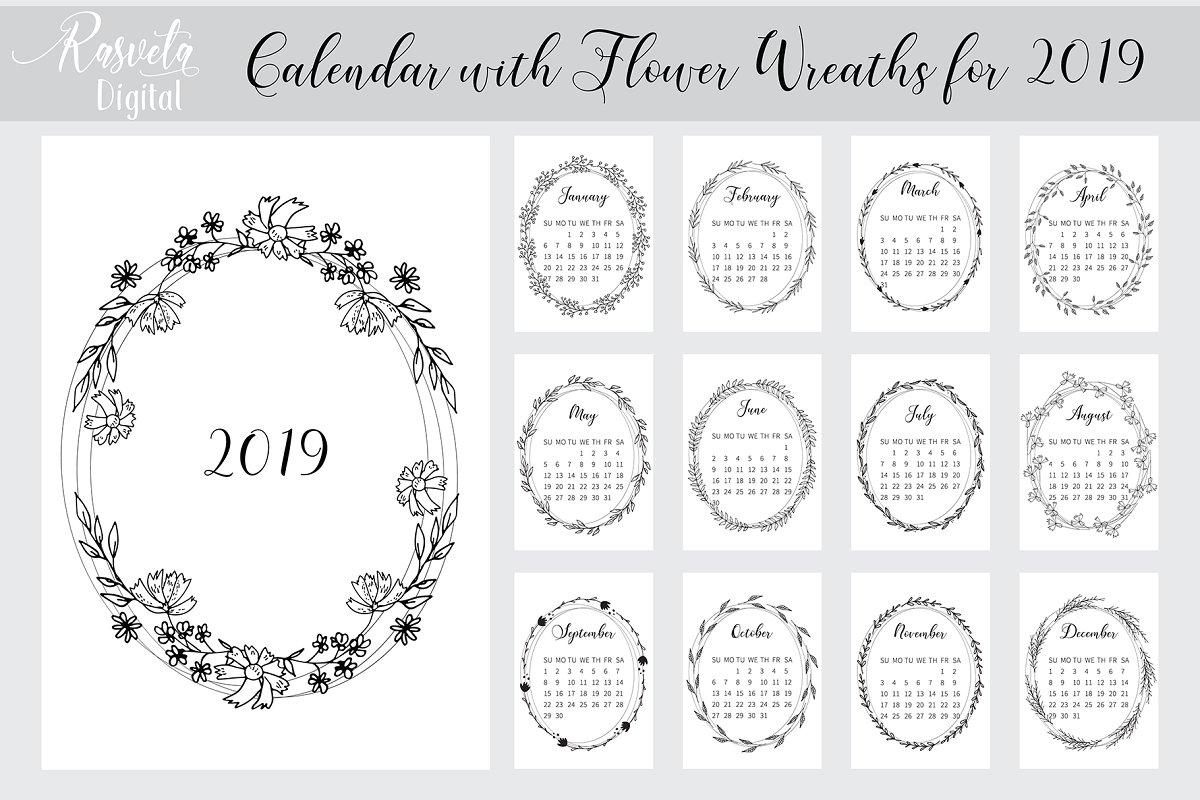 Desk Calendar 2019 Printable A4