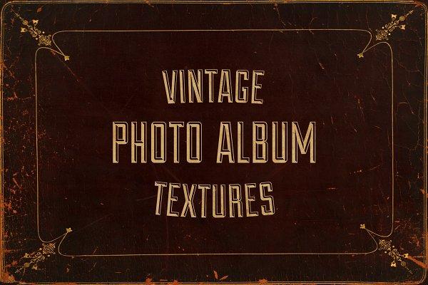 Vintage Photo Album Cover Textures