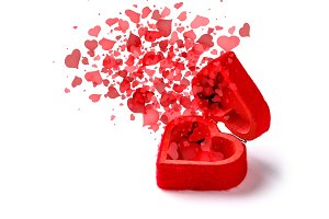 Romantic love concept