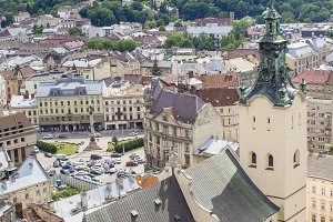 Panorama of Lviv.