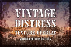 Vintage Distress Texture Overlays