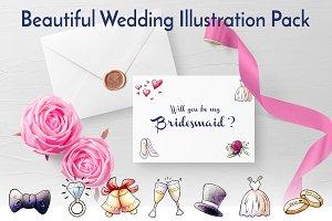 Beautiful Wedding Illustration Pack