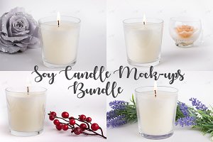 Candle Mock-ups Bundle. PSD + JPG