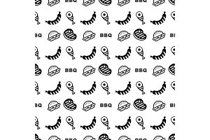 Outline flat vector seamless pattern