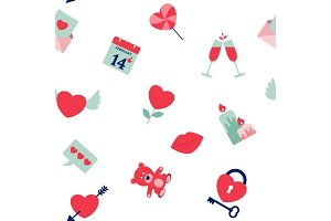 Collection of Valentine's Day icons