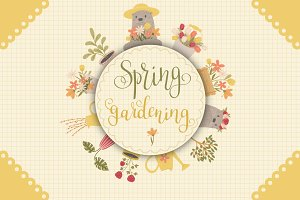 Spring Gardening Hand Drawn Bundle