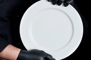 round white empty plate