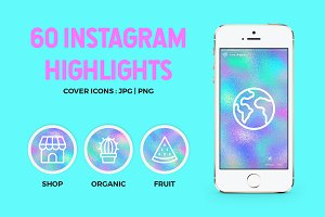 60 Holographic Instagram Highlights