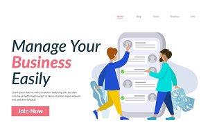 Business Management Illustration UI