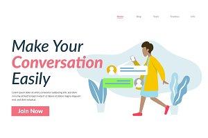 Conversation Flat Illustration UI