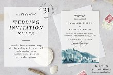 Chill forest - wedding set by  in Cards