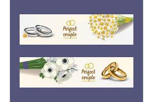 Wedding rings vector wed shop of