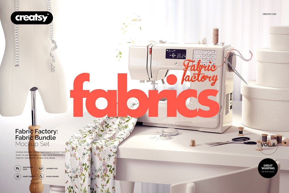 Fabric Factory v.6 Mockup Bundle