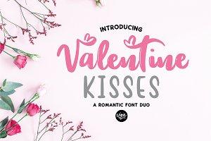 VALENTINE KISSES Script Sans Duo