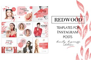 Instagram templates REDWOOD
