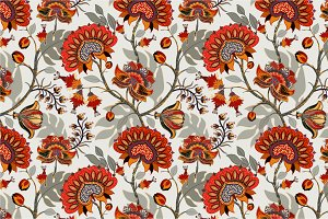 2 Floral Indonesian Patterns