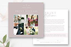 Photographer Print Release Template