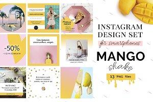"Instagram templates ""Mango Shake"""