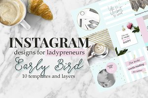 Early Bird - Instagram templates