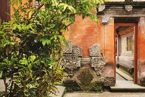 Temple in Ubud, Indonesia