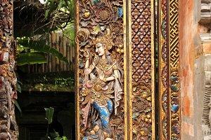 Temple door in Ubud, Indonesia