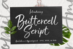 Buttercell SVG Brush Font