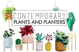 Contemporary Plants & Planters