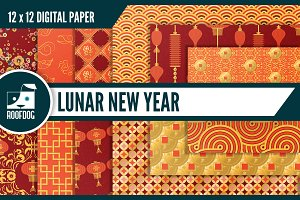 Chinese Lunar New Year digital paper