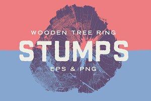 Wood Tree Ring Stump Vectors