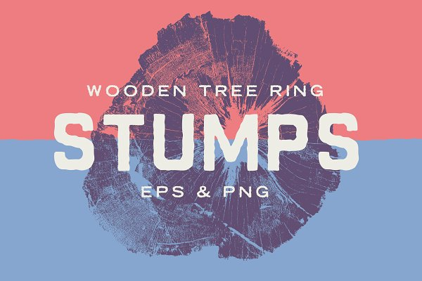 Graphics - Wood Tree Ring Stump Vectors