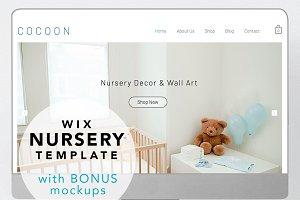 Wix website template - kids nursery