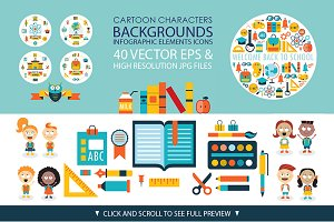 Back to school 40 vectors pack