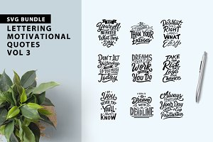 Lettering Motivational Quotes Vol 3