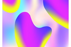 Liquid elements background with