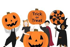 Festive Happy Halloween graphic