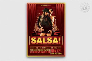 Salsa Caliente Flyer Template