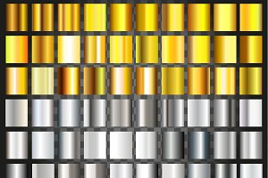 Silver and gold gradient background