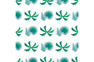 Palm Leaves and Bushes Pattern