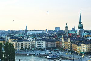 Aerial Stockholm view, Sweden