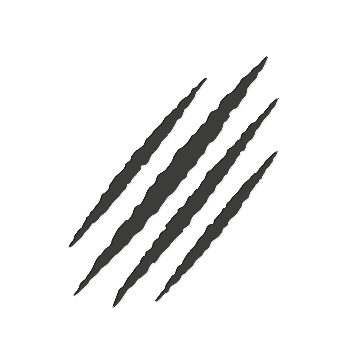 Monster tear claw scratch mark ~ Illustrations ~ Creative