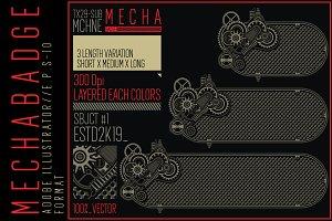 10 Horizontal MECHA badge