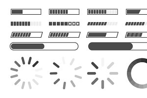 loading bar icons set,