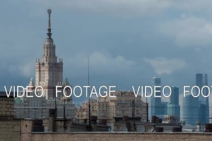 Timelapse of clouds over Moscow
