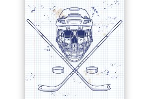 Hockey player skull