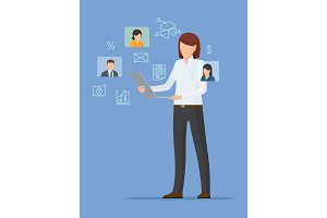 Businesswoman Poster Isolated on
