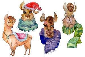 Lama Watercolor png