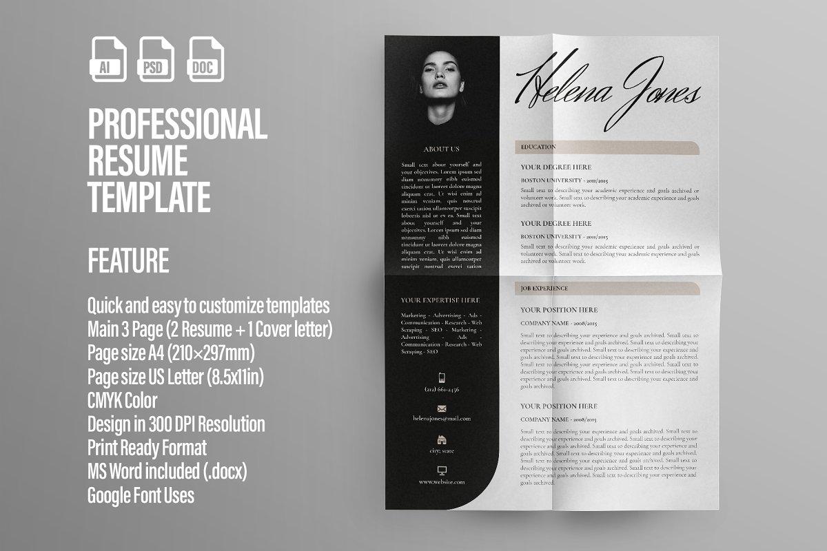 Resume Professional ~ Resume Templates ~ Creative Market