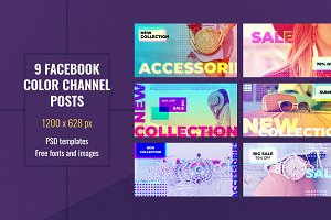 Facebook Color Channel Post Template