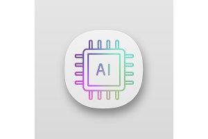 AI processor app icon