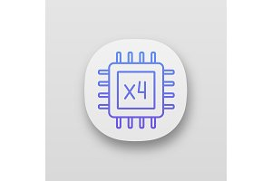 Quad core processor app icon